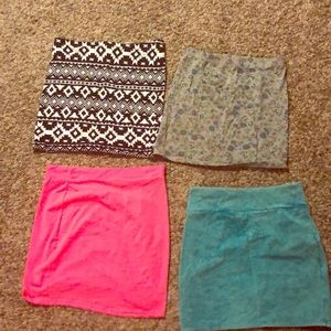 4 for 1 fitted cotton mini skirt lot